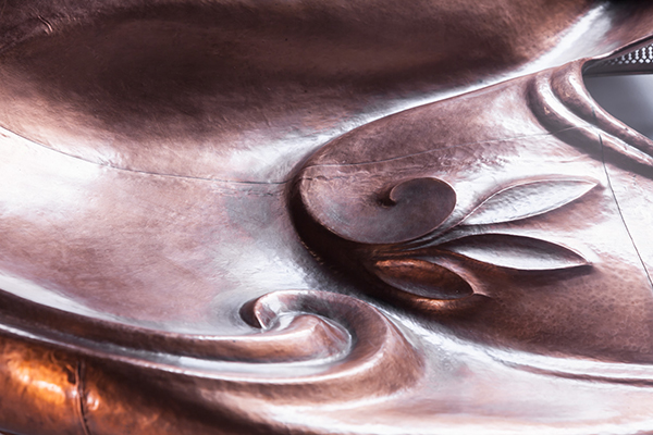 Myra Mimlitsch-Gray, Chafing Dish, 2002-2003, copper, found object