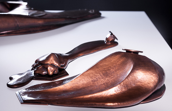 Myra Mimlitsch-Gray,Conflation: Melting and Conflation: Inflating, 2005, handwrought copper