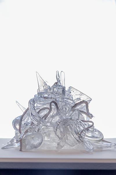 Beth Lipman, Untitled, 2016, glass, adhesive