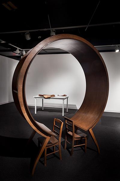 Michael Beitz, Table, 2016, wood